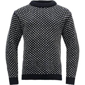 Devold Nordsjø Crew Neck Sweater, blauw/wit
